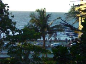 The Arabian Sea outside the window, 6 pm